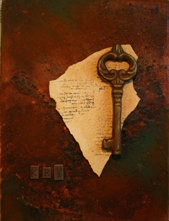 Rust-Key-Canvas - Daniela Rogall - Art for Sale