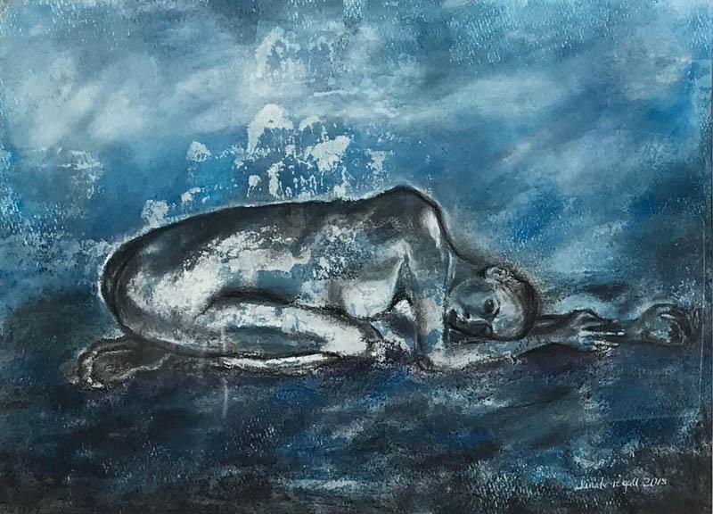 Blauer Akt No. 3, Gefühlstiefe - Der Körper - Daniela Rogall