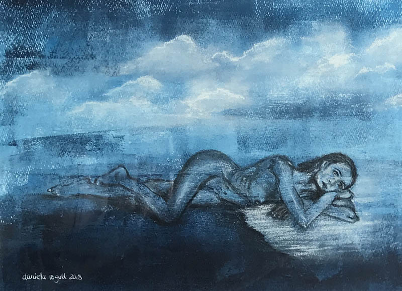 © Daniela Rogall / 40 x 30 cm / Acryl/Kohle auf Papier