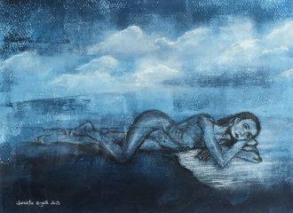 Blauer Akt No. 4, Gefühlstiefe - In den Wolken - Daniela Rogall