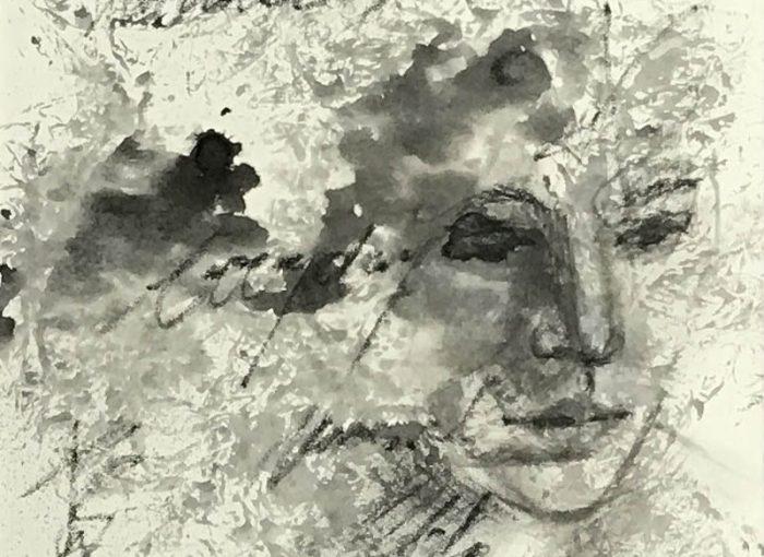 Moments 1 - Black & White - Mixed Media Art - Gefühlstiefe - Von Innen nach Außen - Daniela Rogall