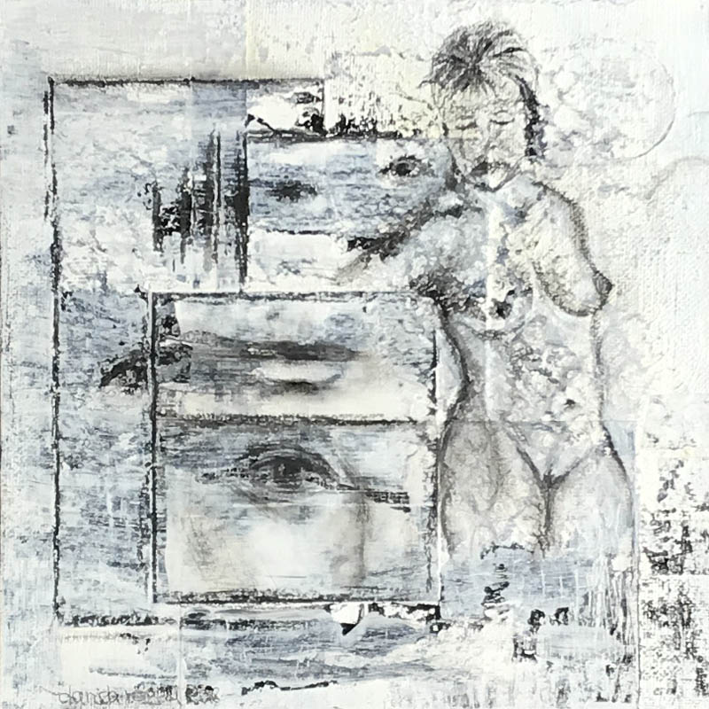 Beauty - Black & White - Mixed Media Art - Gefühlstiefe - Von Innen nach Außen - Daniela Rogall