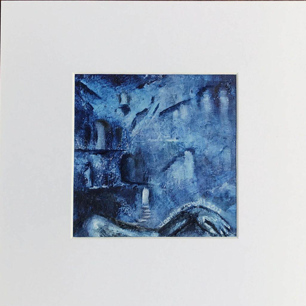 © Daniela Rogall / 20 x 20 cm (13 x 13 cm)/ Coldwax/Öl/Kohle auf Fine Art Malkarton
