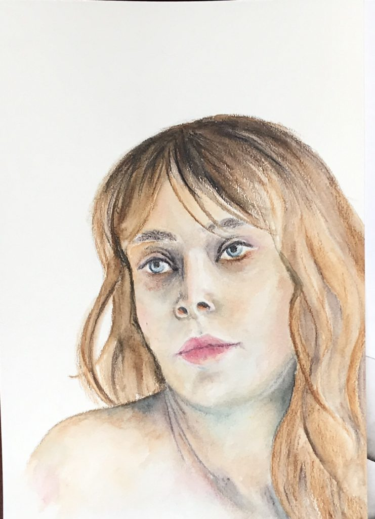 Portrait in Aquarell - Verträumt - Daniela Rogall