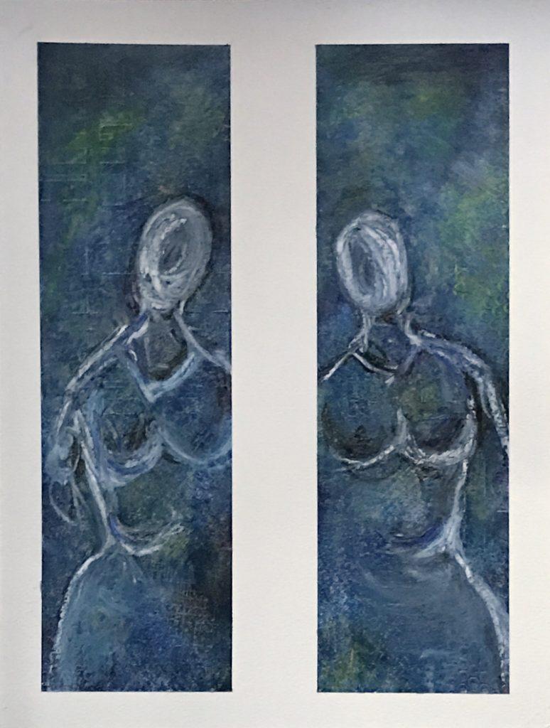 Akzeptanz - Wir sind Eins - Coldwax painting - Daniela Rogall