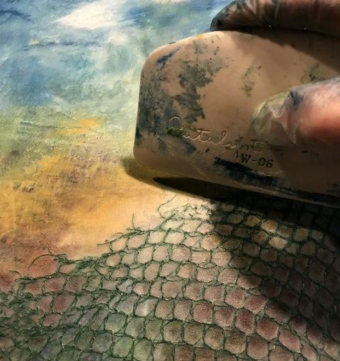 Cold wax Kaltwachsmalerei - Mixed Media Art - Online-Workshop, Jetzt anmelden!