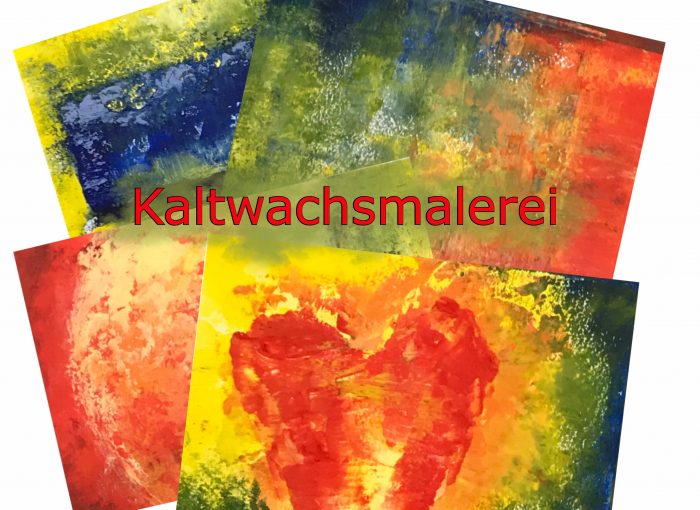 Cold wax Kaltwachsmalerei - Mixed Media Art - Online-Workshop - Daniela Rogall