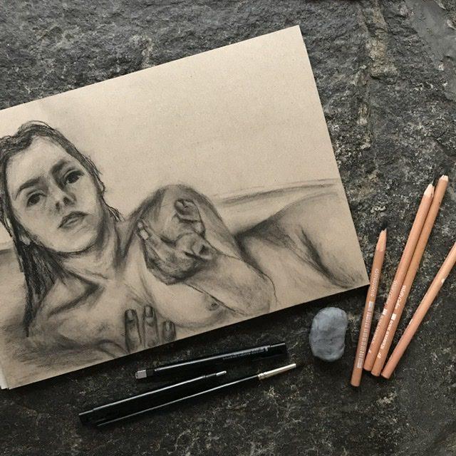 #figurecollaboration Sketch of Anissa - Daniela Rogall