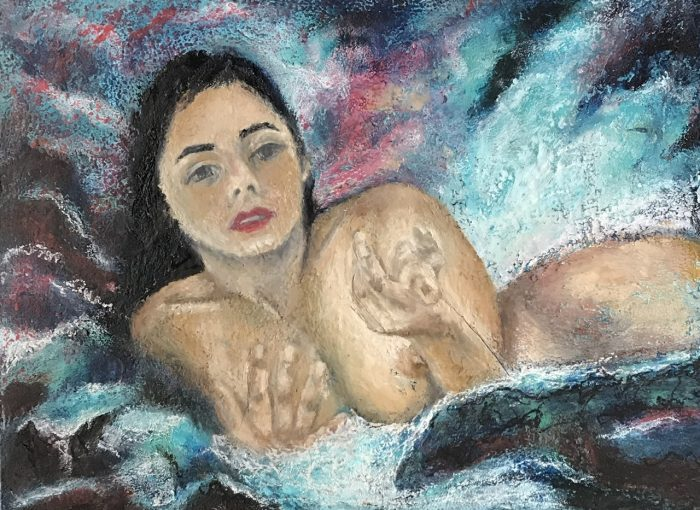 Cold wax and oil of Anissa - Daniela Rogall